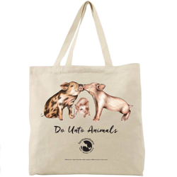 Do Unto Animals Tote Bag by Tracey Stewart and Farm Sanctuary