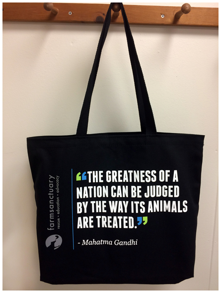 Farm Sanctuary Gandhi Tote Bag