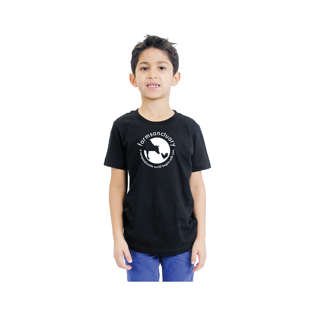 Farm Sanctuary Youth Sanctuary Life Logo Tee