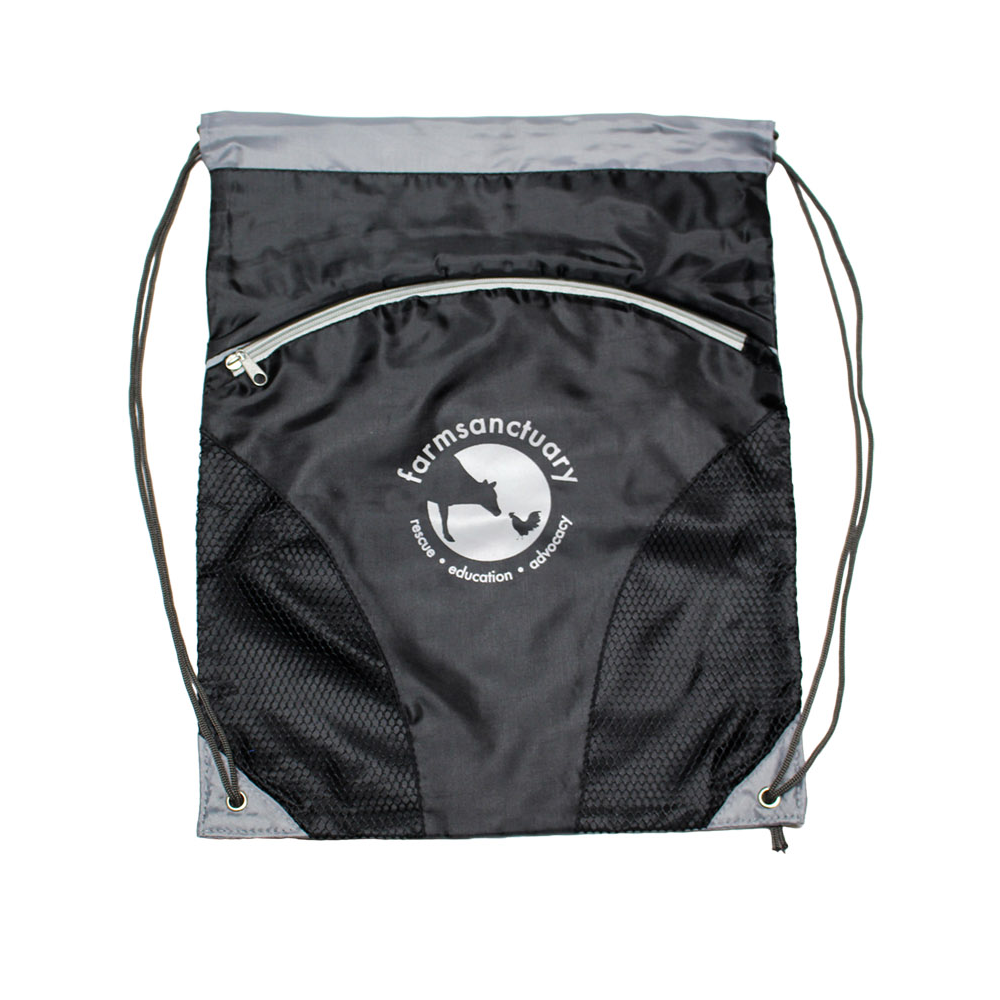 Farm Sanctuary Logo Sports Cinch Sack