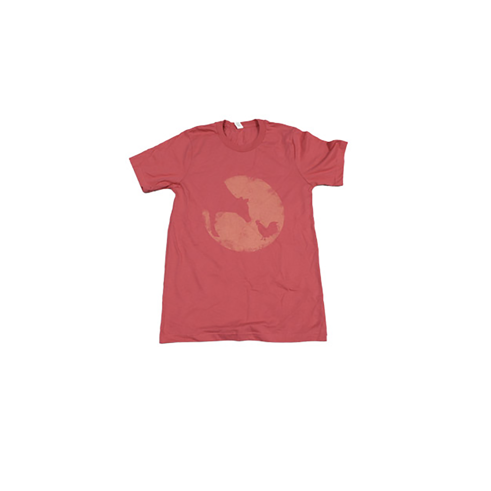 Farm Sanctuary Distressed Logo Tee (Coral)