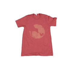 Farm Sanctuary Distressed Logo Tee (Coral)