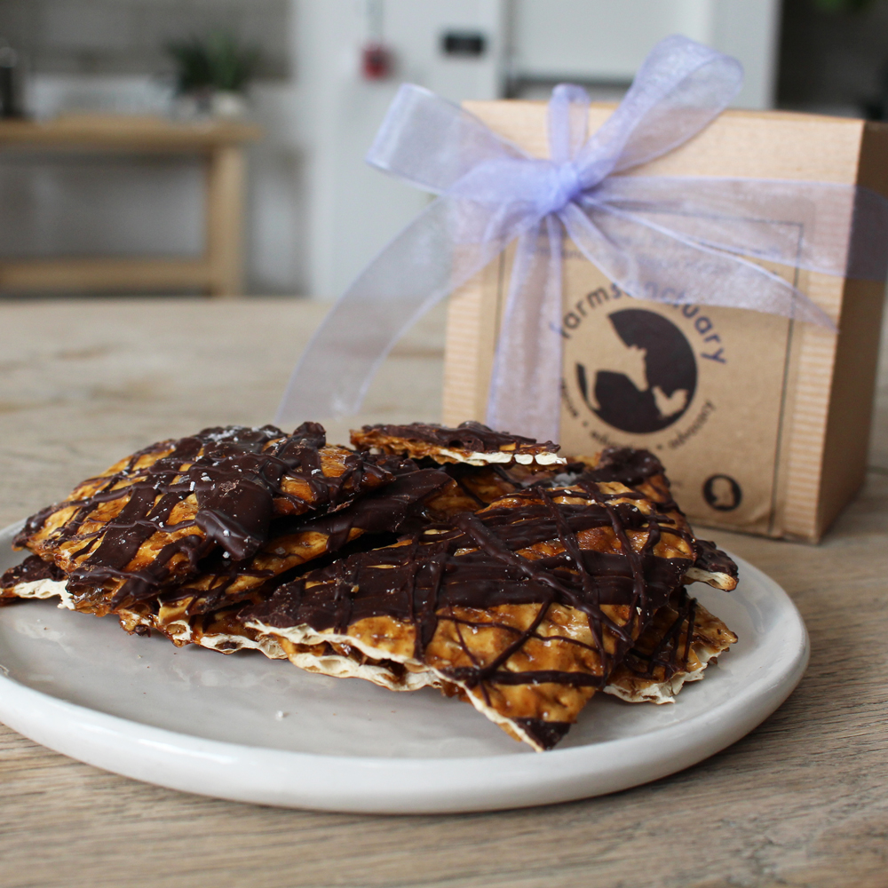 Farm Sanctuary Vegan Matzo Toffee