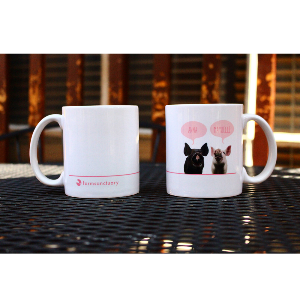 Farm Sanctuary Anna and Maybelle Mug