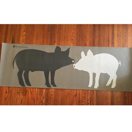 Pig Yoga Mat pig yoga mat farm sanctuary, animal rescue yoga mat, mindfulness yoga mat compassion for animals