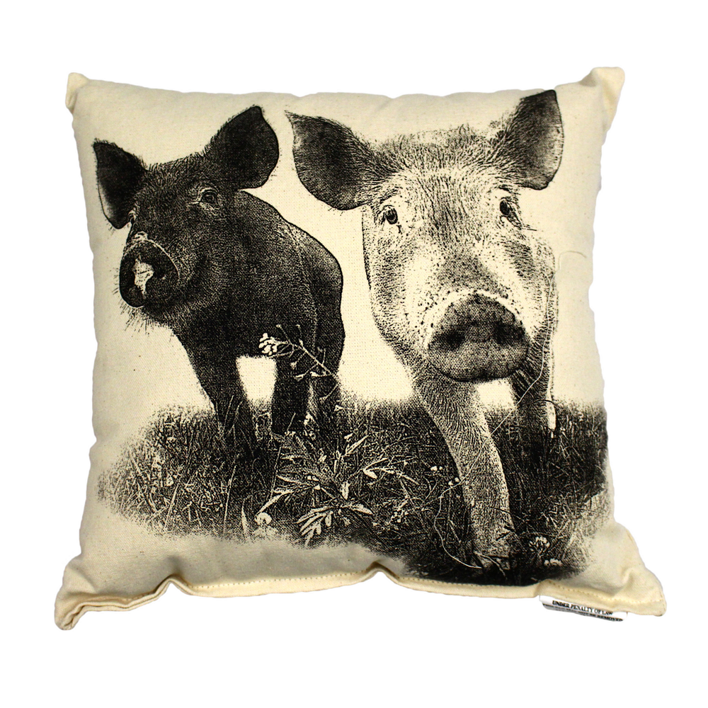 Farm Sanctuary Anna and Maybelle Pillow