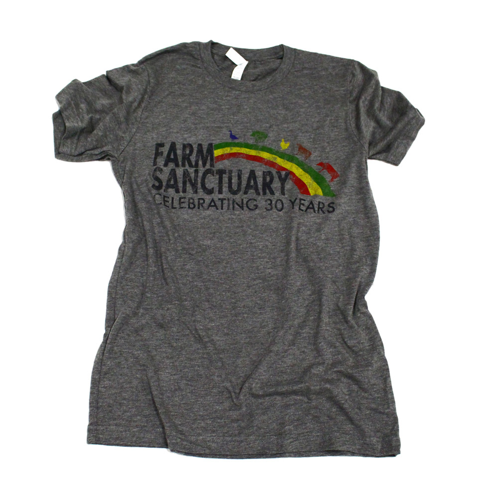 Farm Sanctuary Vintage Rainbow Tee