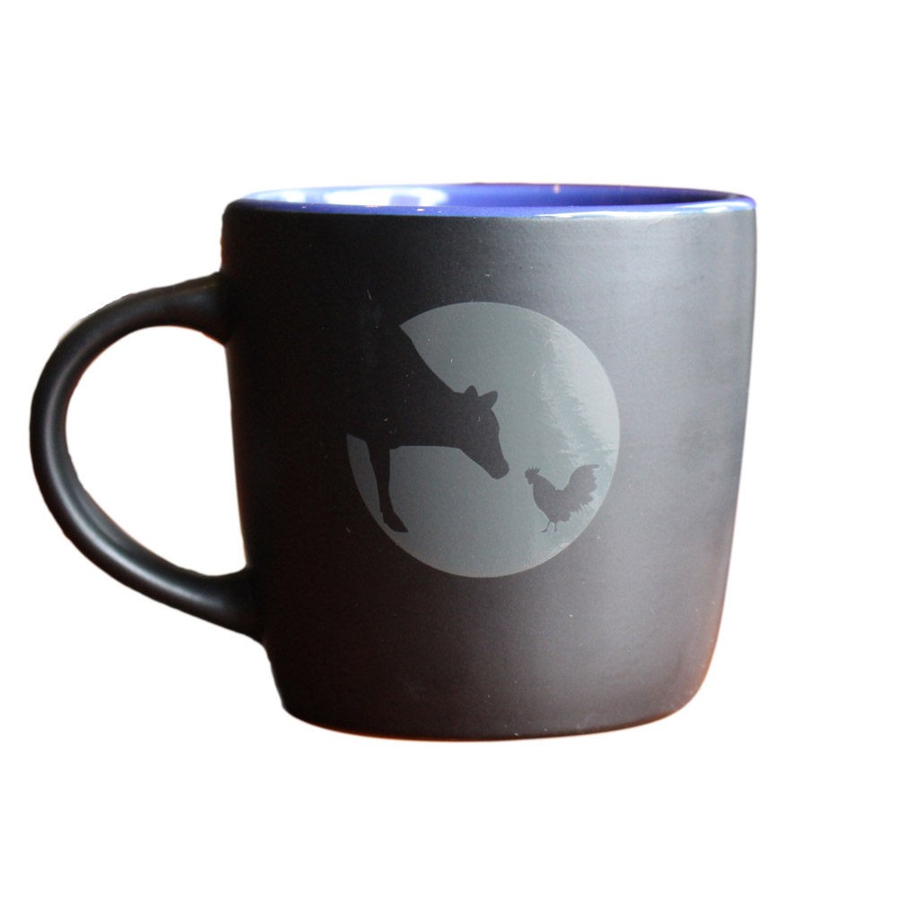 Farm Sanctuary Logo Black Matte Mug