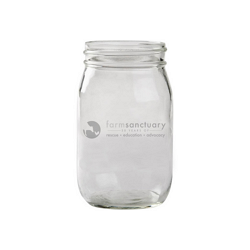 Farm Sanctuary 30th Anniversary Mason Jar