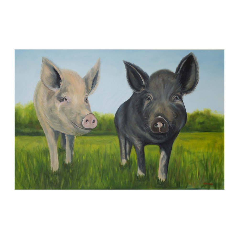 Farm Sanctuary Anna and Maybelle Canvas Print- Large