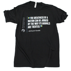 Farm Sanctuary Gandhi Quote Unisex Tee