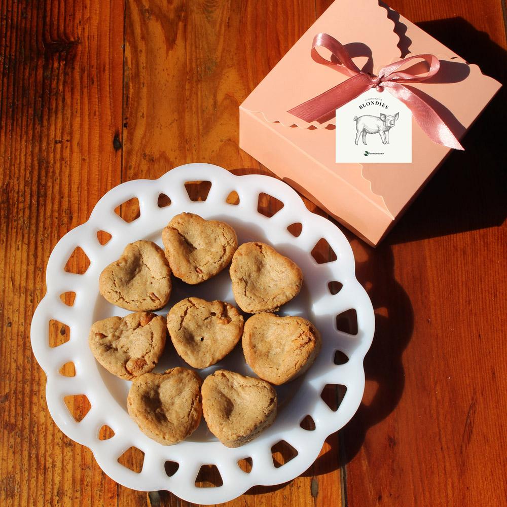 Farm Sanctuary Hearts Almond Butter Blondies