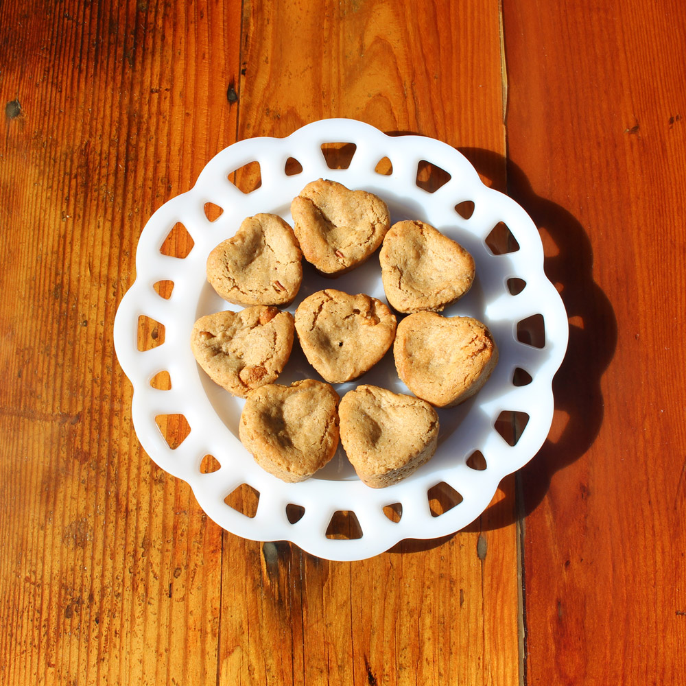 Farm Sanctuary Hearts Almond Butter Blondies