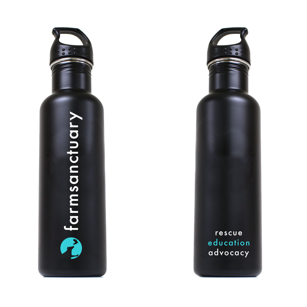 Farm Sanctuary Logo Stainless Steel Water Bottle