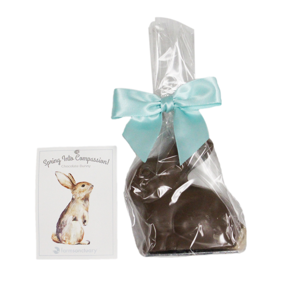Farm Sanctuary Spring into Compassion! Vegan Chocolate Bunny