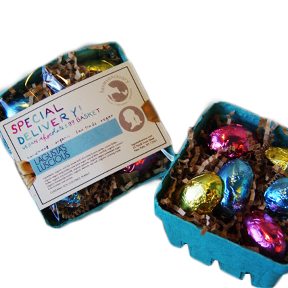 Special Delivery! Vegan Chocolate Egg Basket <br>Vegan, Organic ...