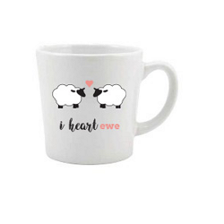 Farm Sanctuary I Heart Ewe Mug