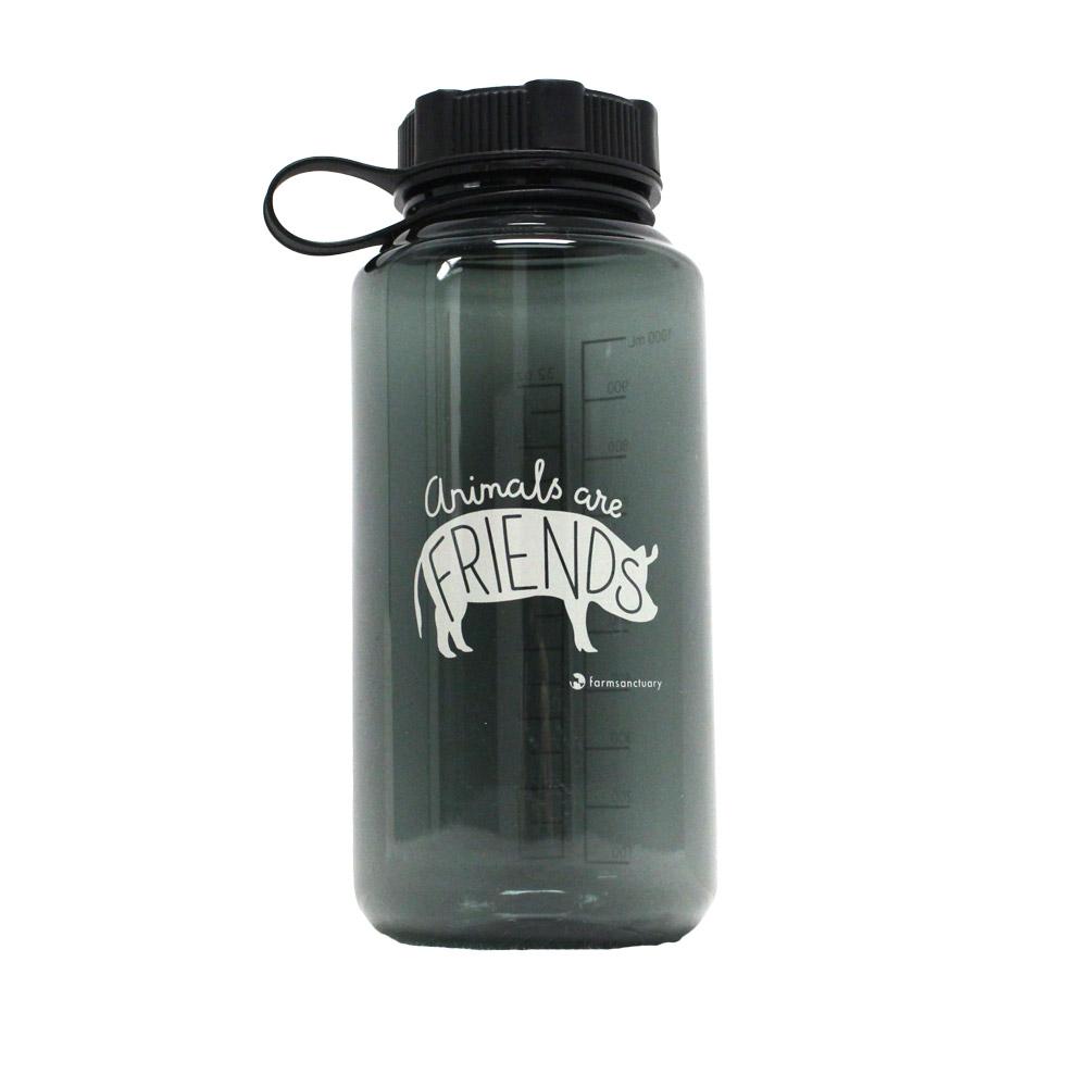 Farm Sanctuary Animals are Friends Water Bottle