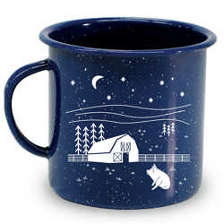 Farm Sanctuary Farm Scene Tin Mug