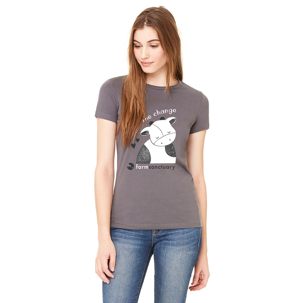 Farm Sanctuary Be The Change Gender Ladies Tee