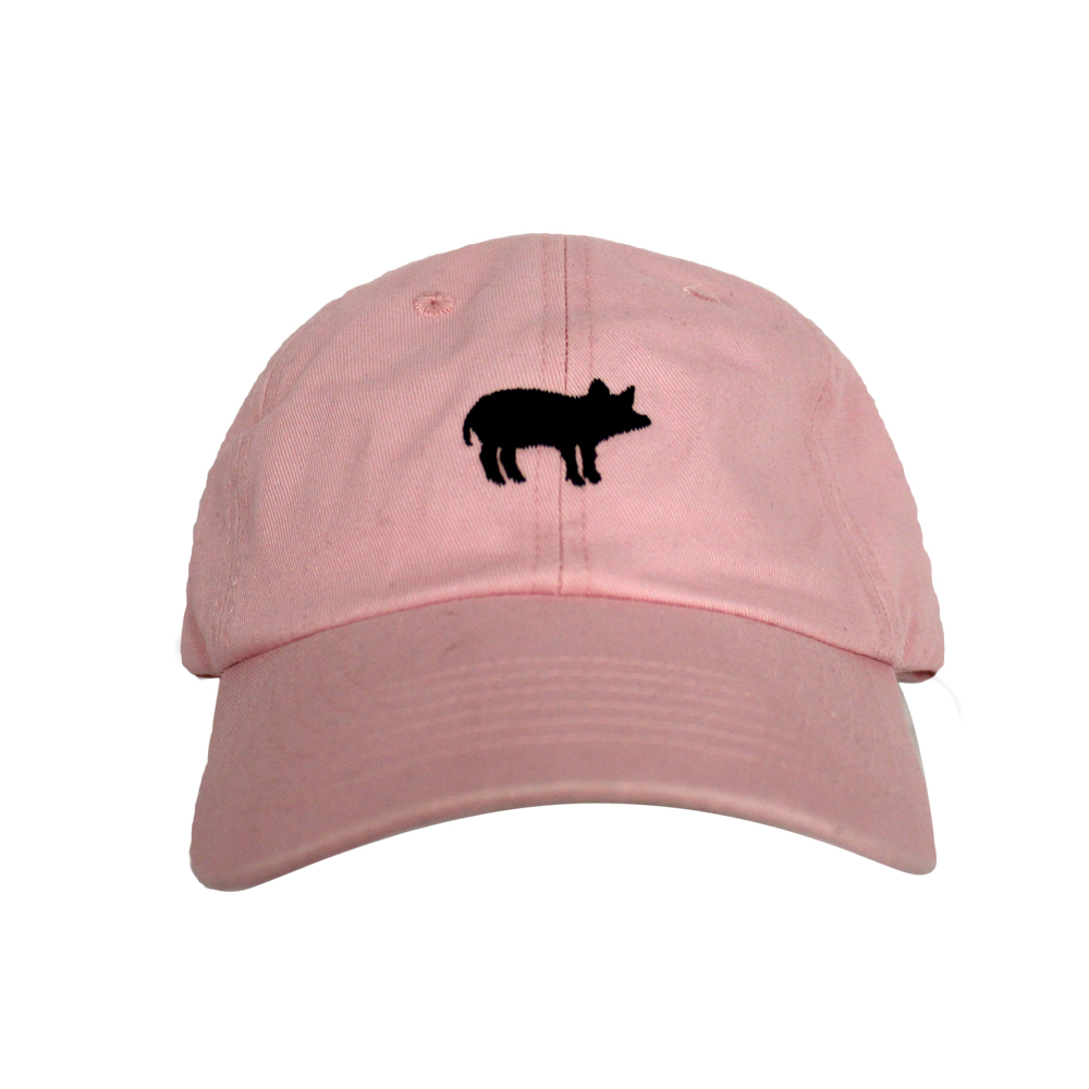Pig Unisex Hat pink pig baseball cap, farm sanctuary animal baseball cap, pink pig adjustable hat