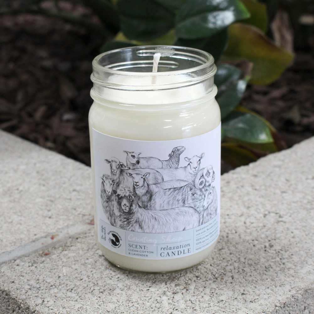 Farm Sanctuary Counting Sheep Relaxation Candle