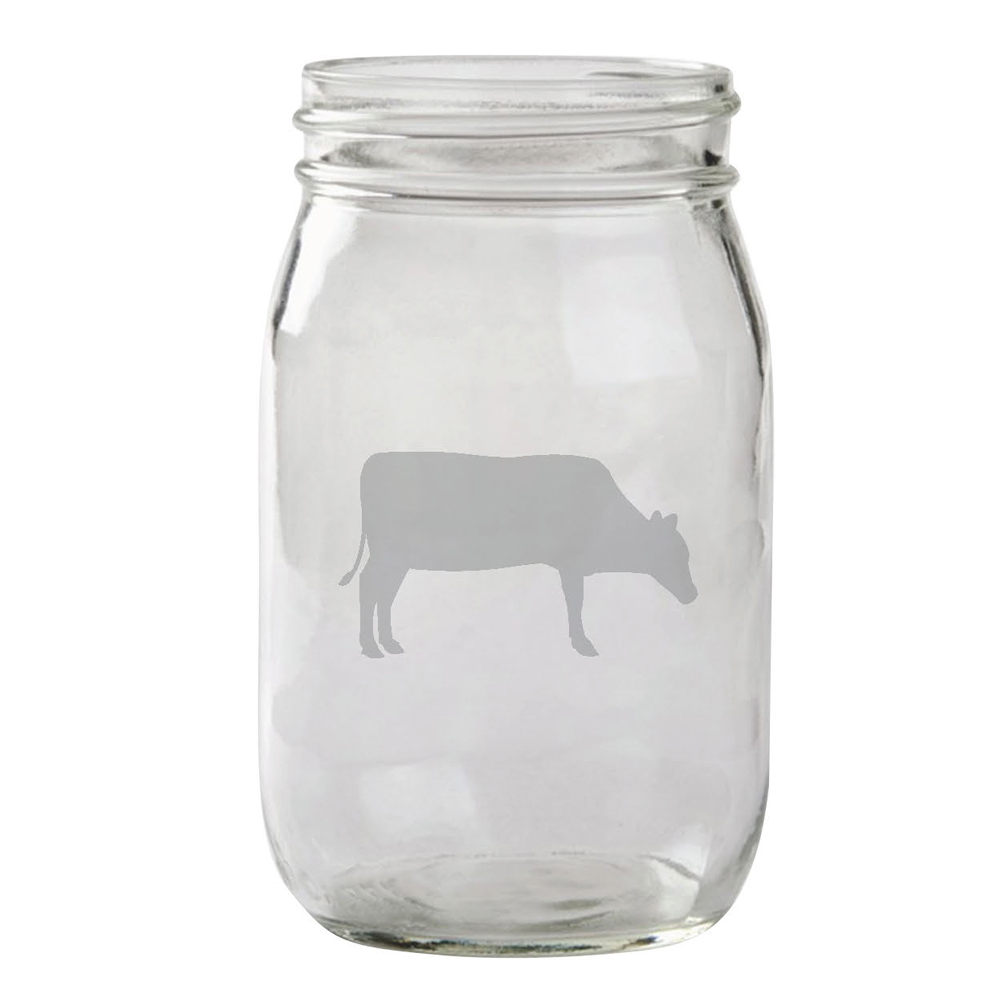 Farm Sanctuary Cow Mason Jar