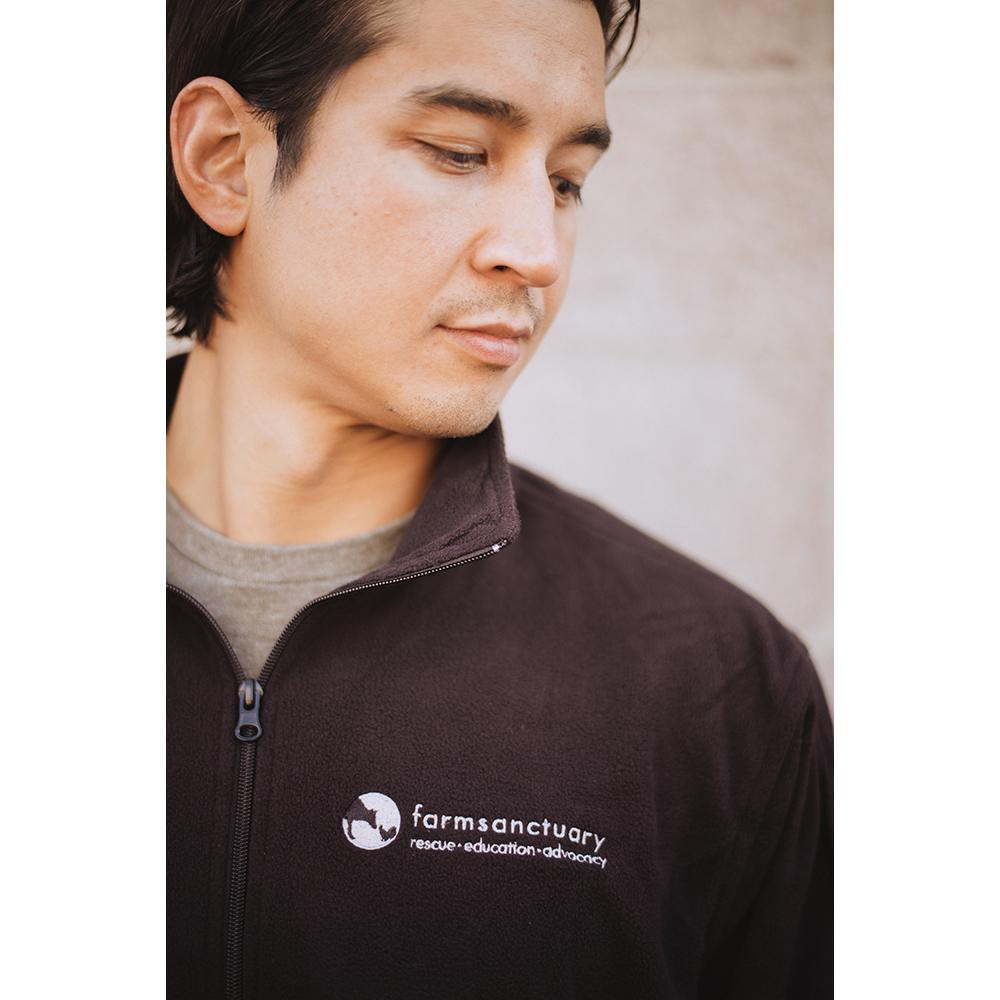 Farm Sanctuary Logo Fleece Unisex Jacket