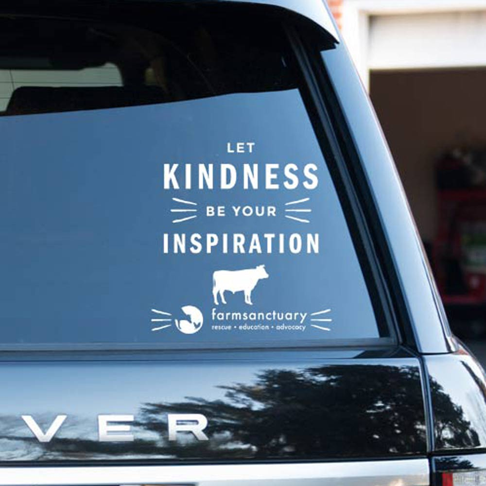 Farm Sanctuary Kindness Inspiration Car Vinyl