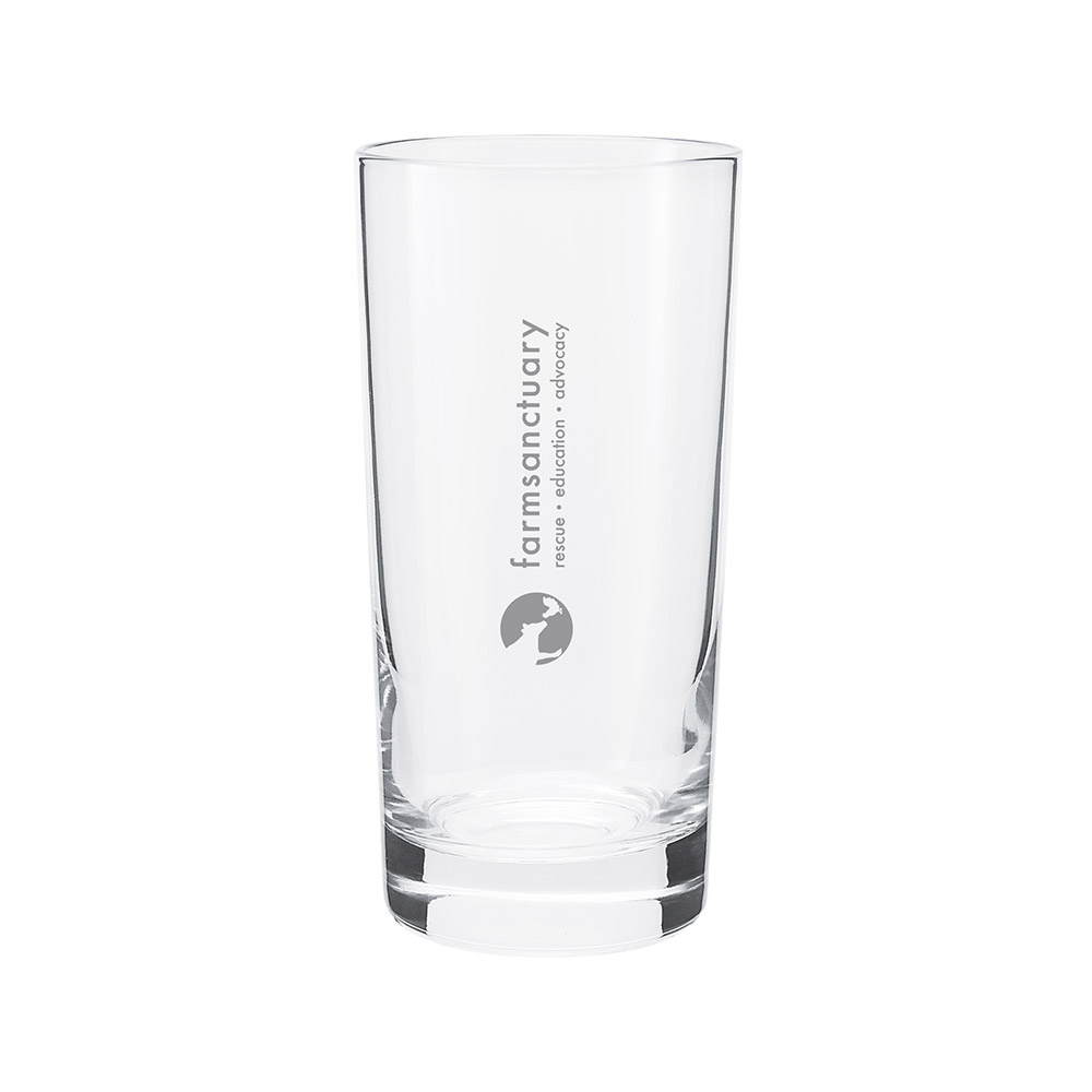 Farm Sanctuary Animal Water Glass Set - The Farm Sanctuary Logo is on the back of the glasses
