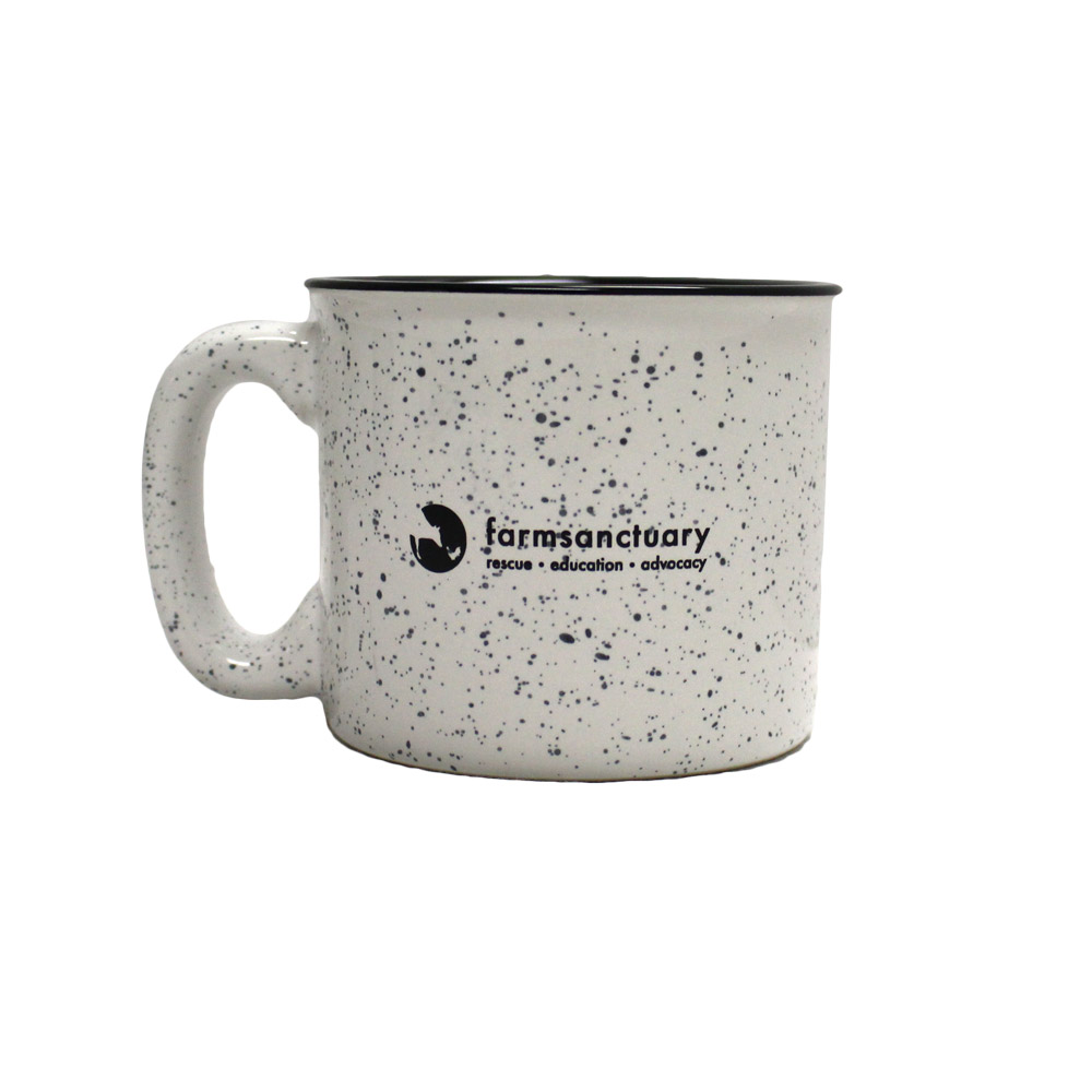 Farm Sanctuary Be Kind Speckled Ceramic Mug