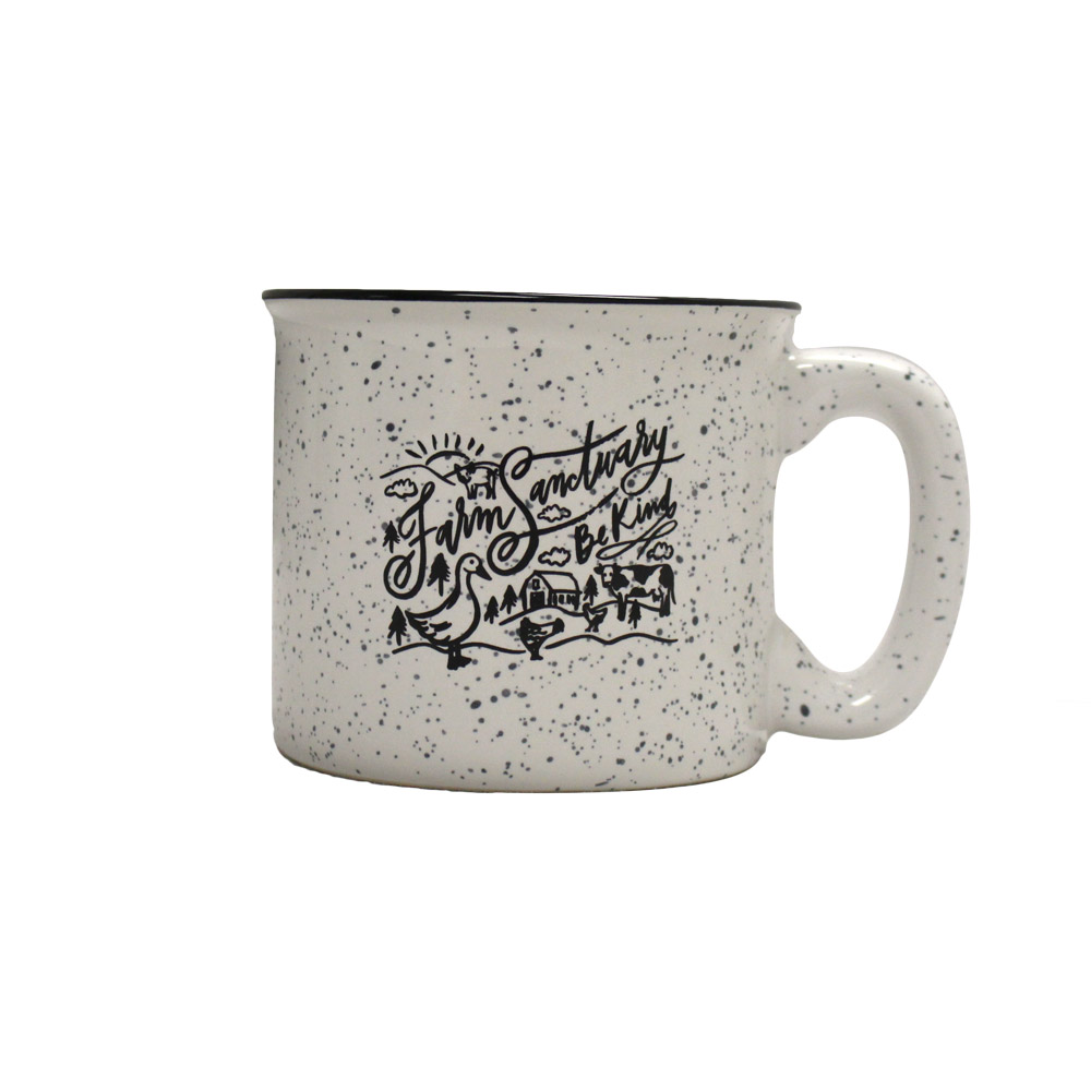 Farm Sanctuary Be Kind Speckled Ceramic Mug