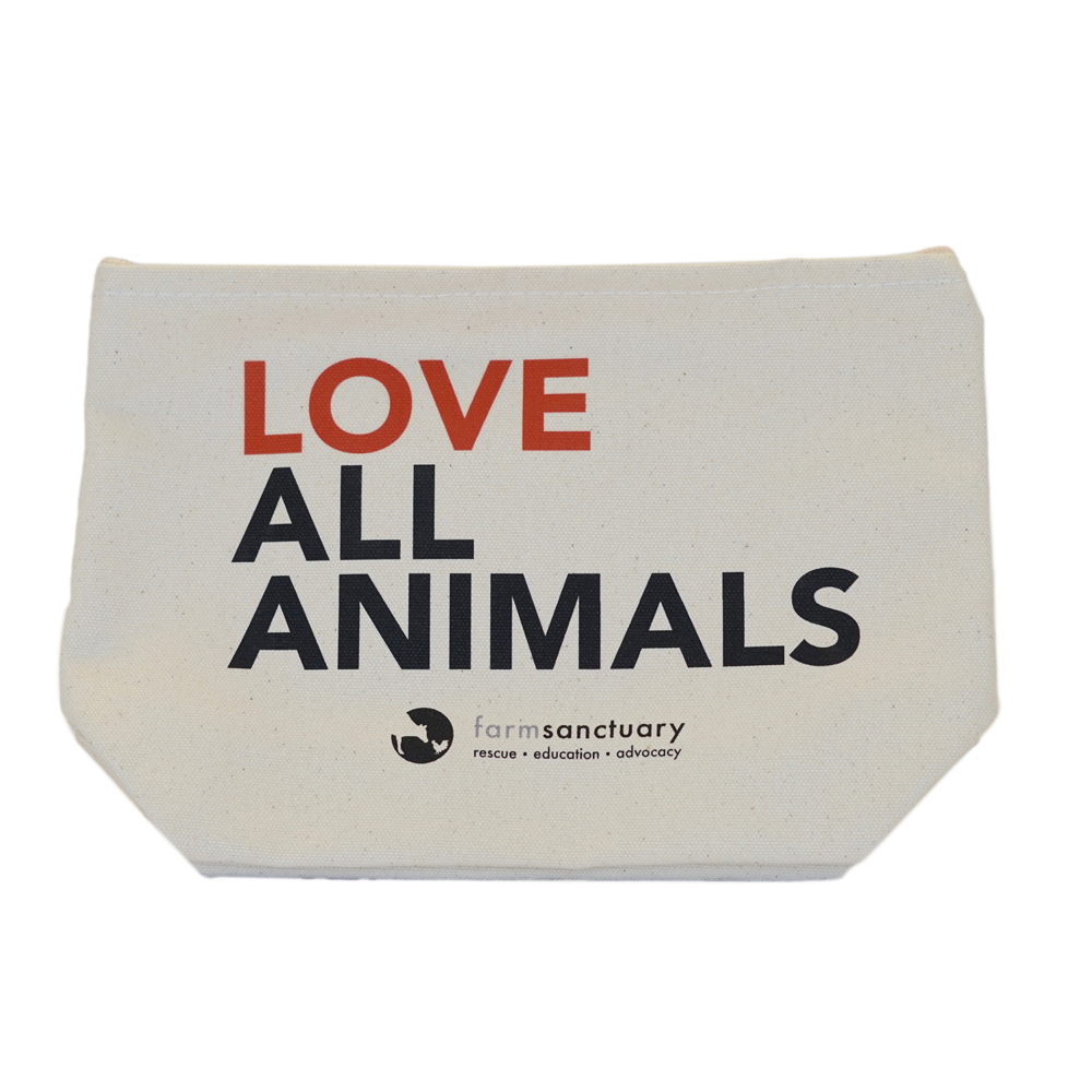 Farm Sanctuary Love All Animals Pouch