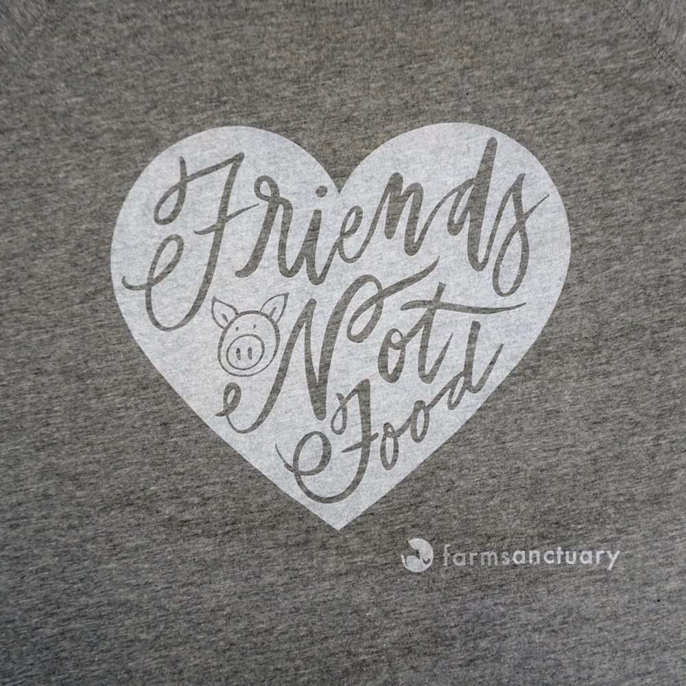 Farm Sanctuary Friends not Food Ladies Tee
