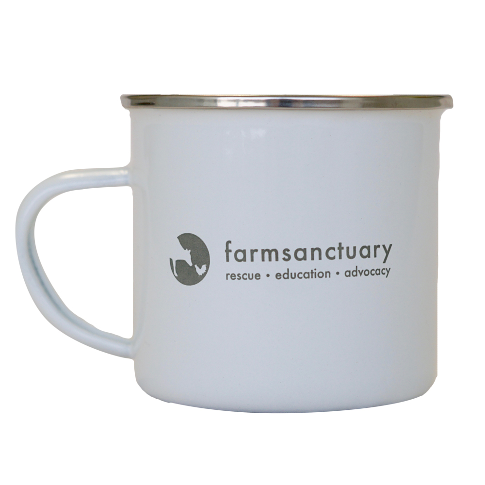 Farm Sanctuary Be The Change Pig Tin Mug