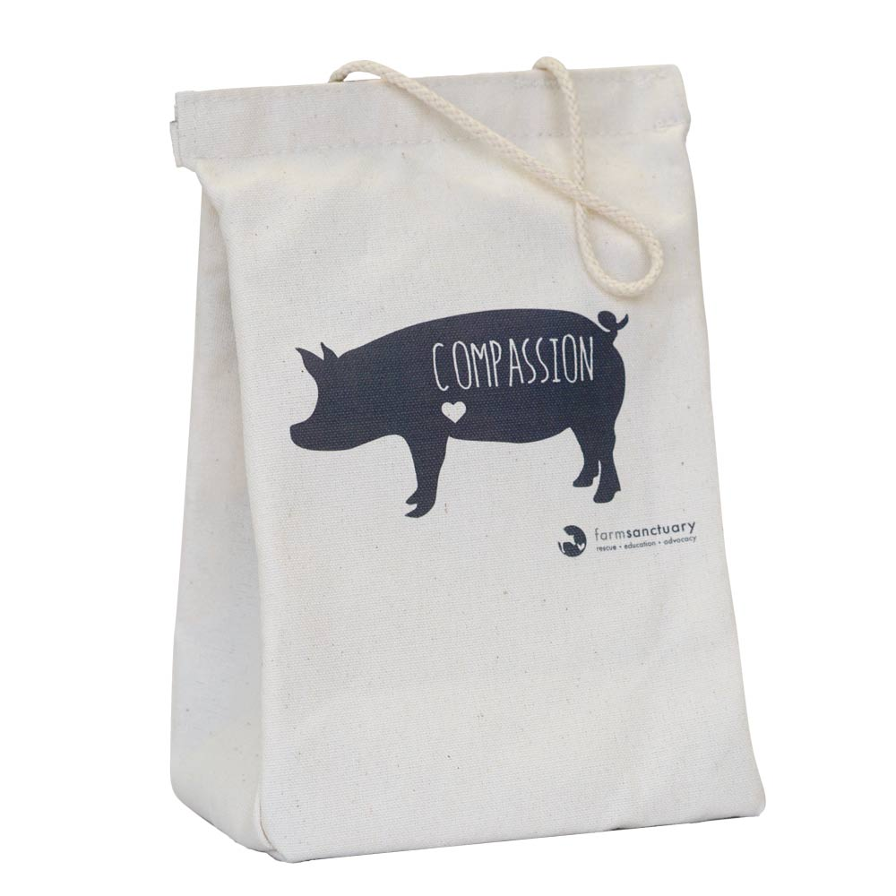 Farm Sanctuary Compassion Pig Lunch Tote