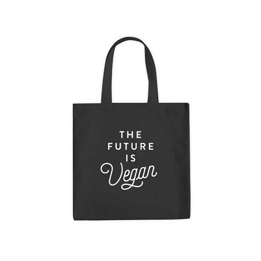 Farm Sanctuary The Future is Vegan Tote Bag - Black