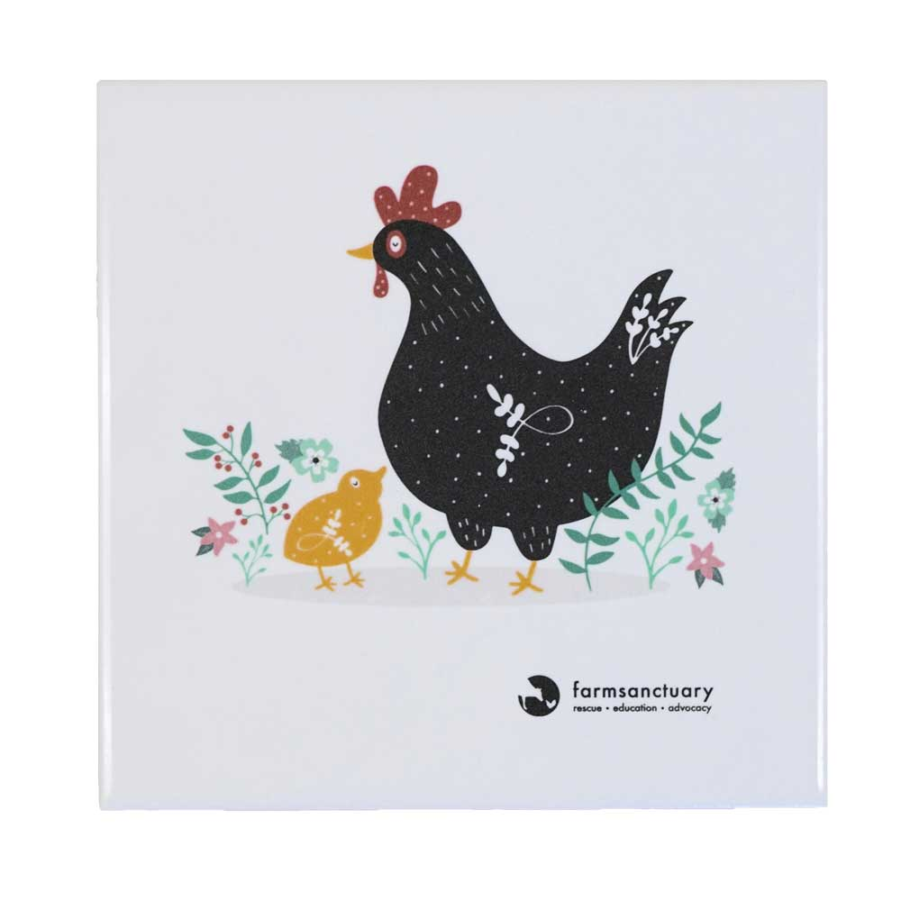 Farm Sanctuary Hen & Chick Bistro Trivet
