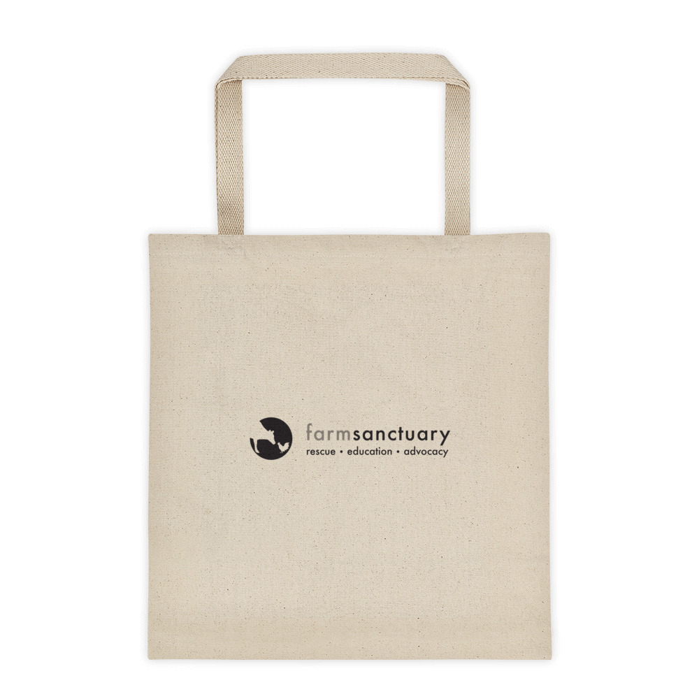 Farm Sanctuary Powered by Plants Tote Bag