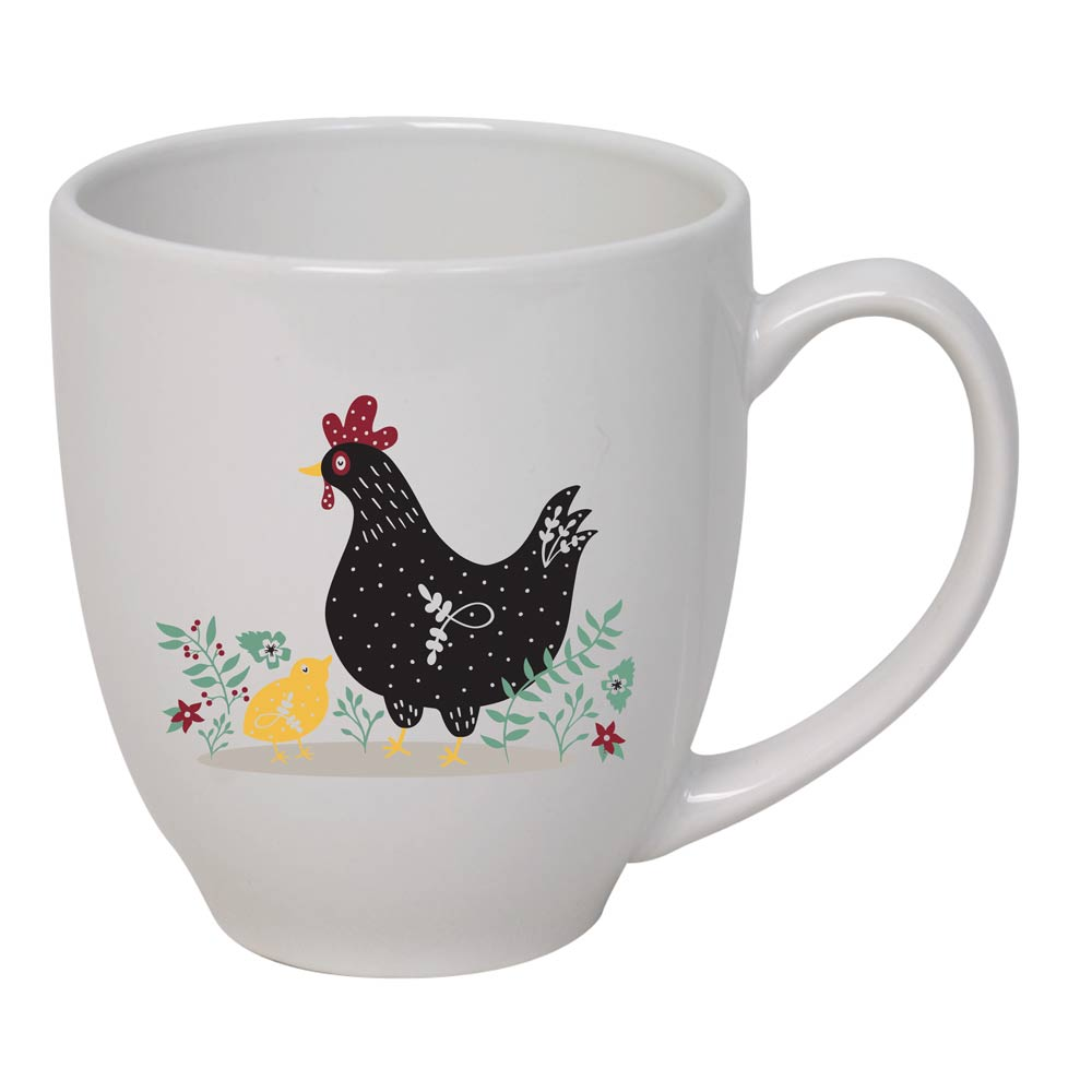 Farm Sanctuary Hen & Chick Bistro Mug