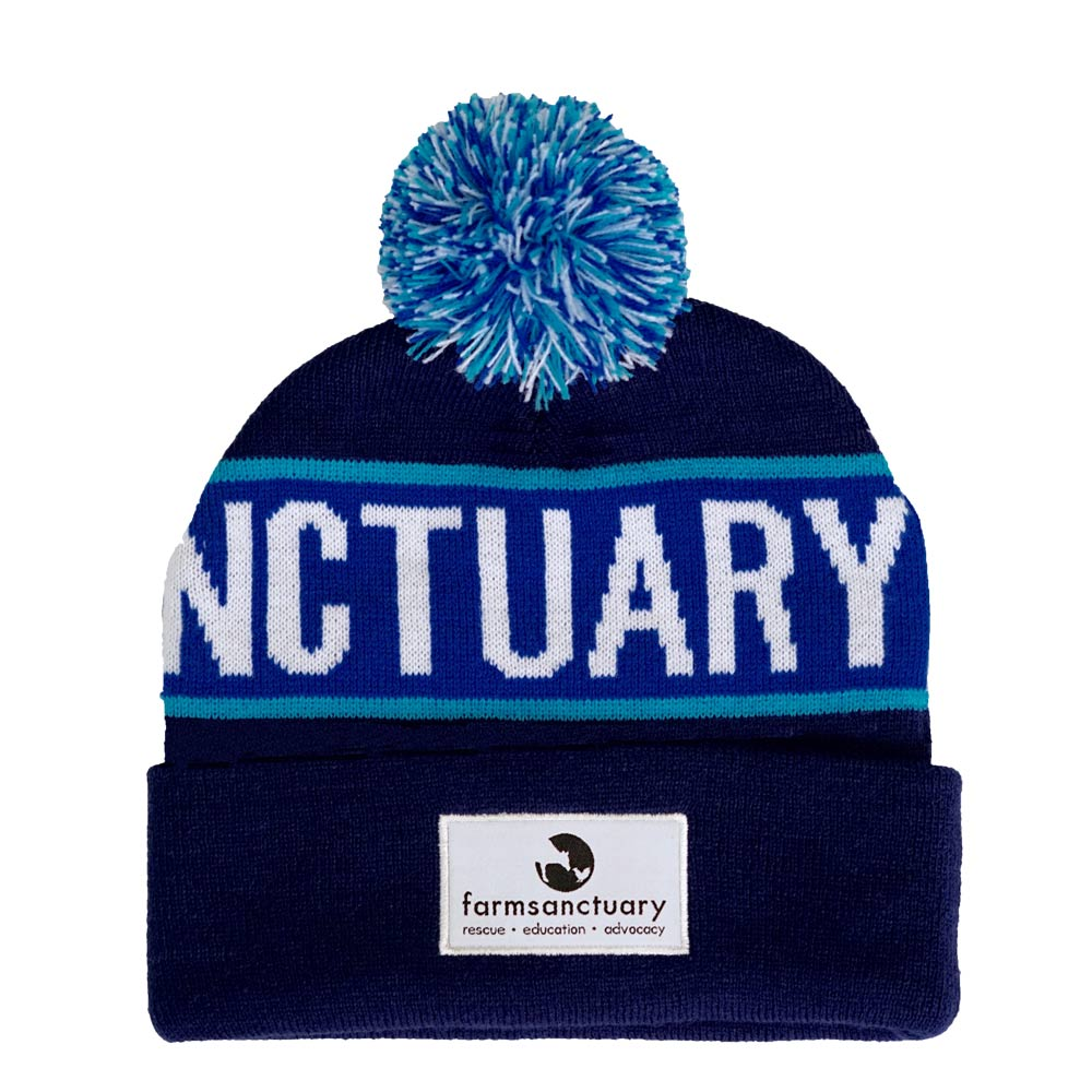 Farm Sanctuary Text Beanie