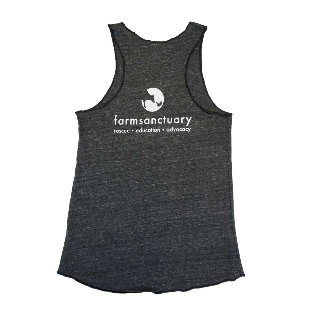 Farm Sanctuary Vegan For The Animals Ladies Tank