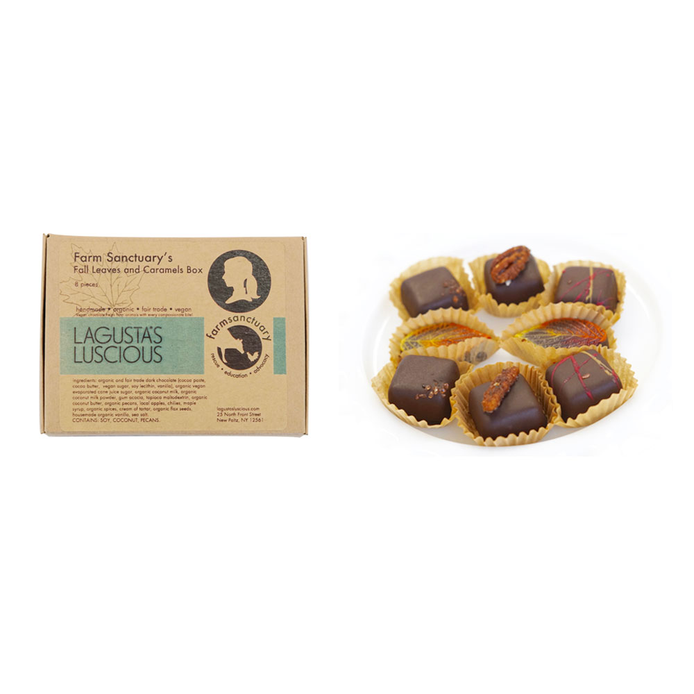 Farm Sanctuary's Fall Leaves and Caramels Box by Lagusta's Luscious