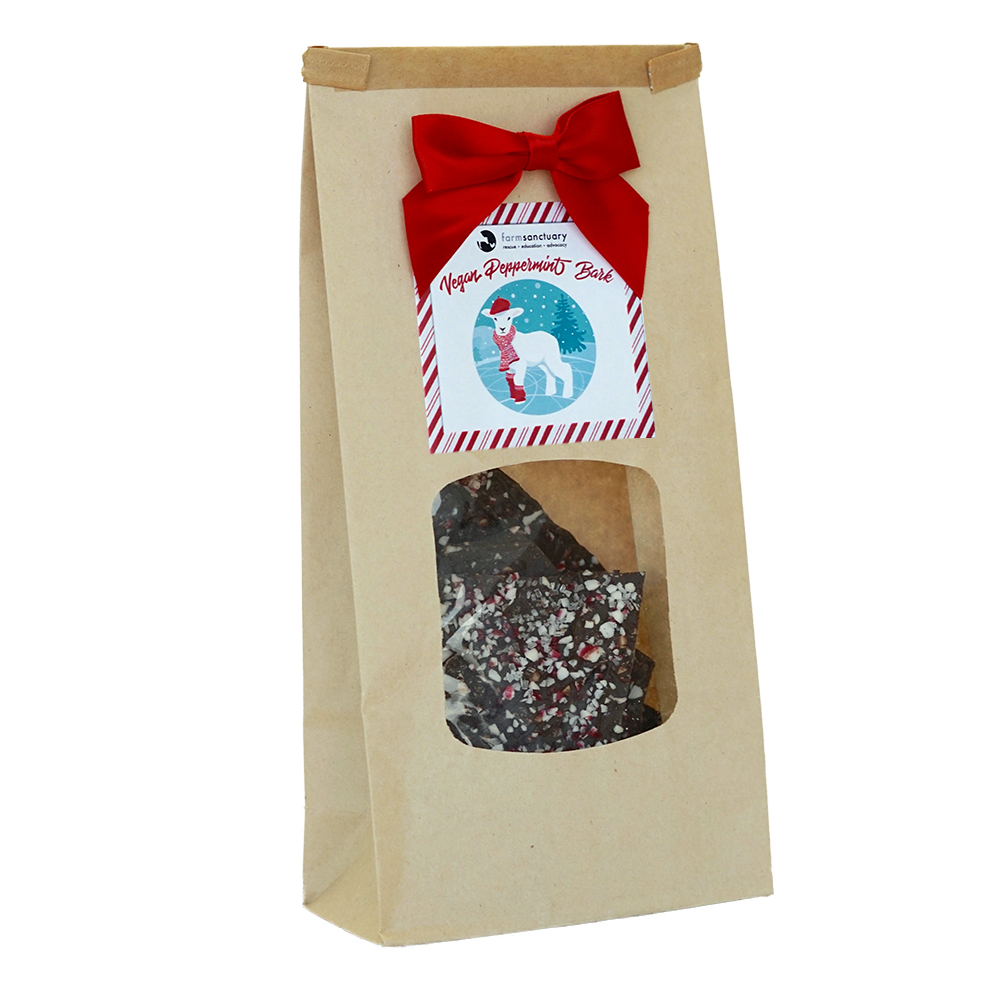 Farm Sanctuary Vegan Peppermint Bark by Chocolate Inspirations