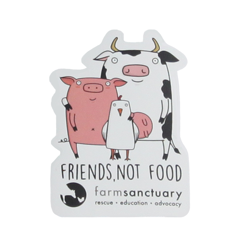 Farm Sanctuary's Friends not Food Sticker