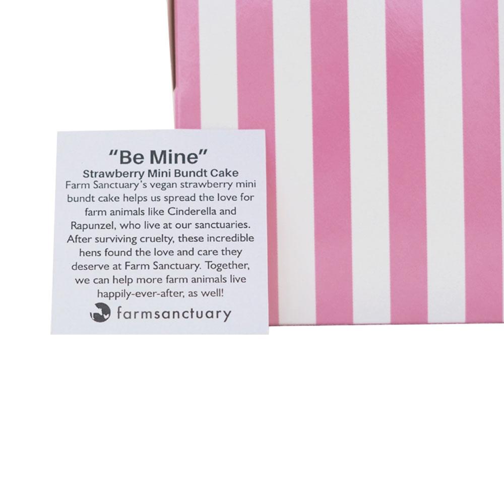 "Farm Sanctuary's ""Be Mine"" Strawberry Mini Bundt Cake by Marge's Bakery"
