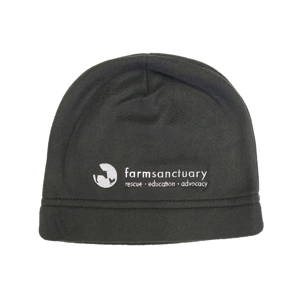 Farm Sanctuary Logo Fleece Beanie