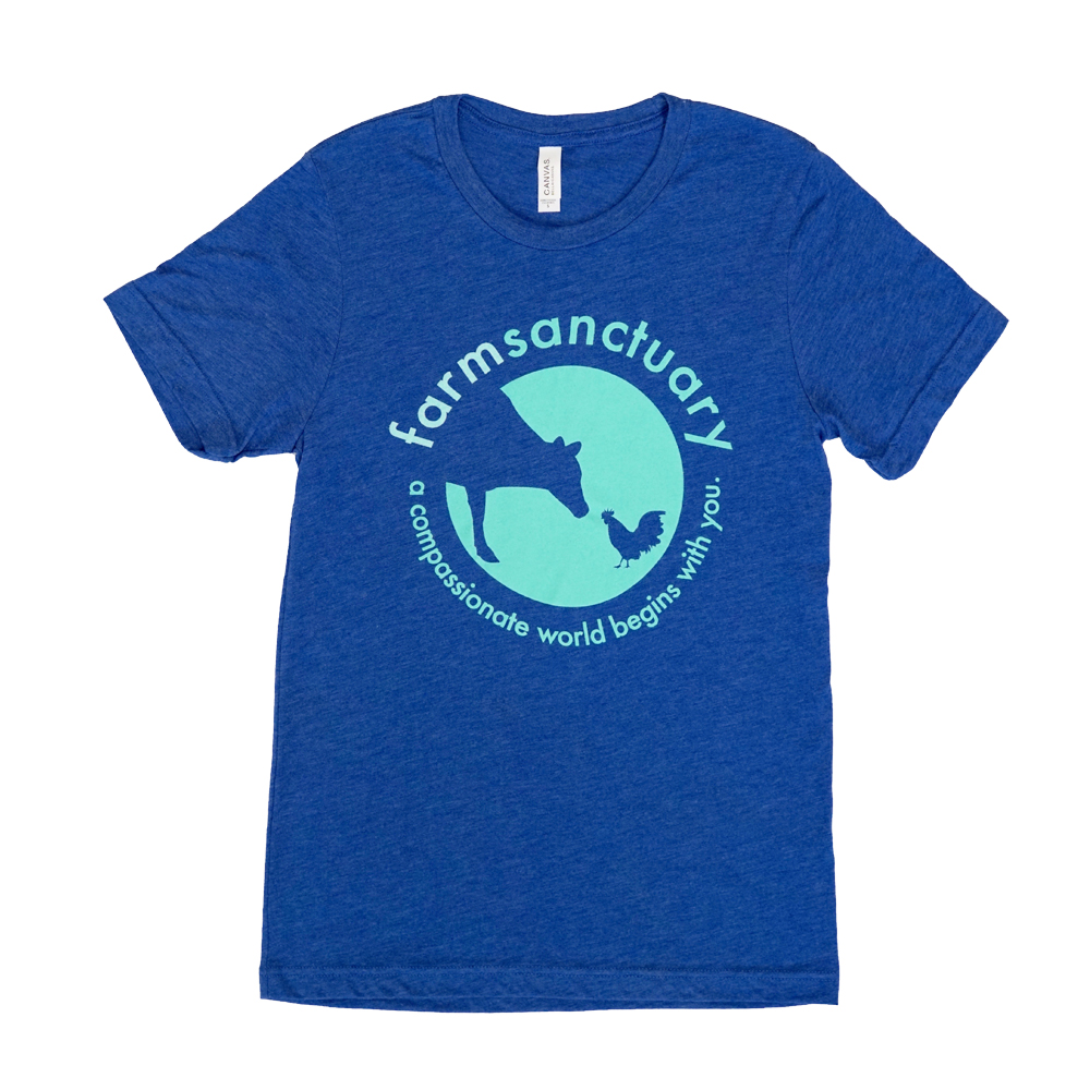 Farm Sanctuary's Blue Sanctuary Life Logo Tee