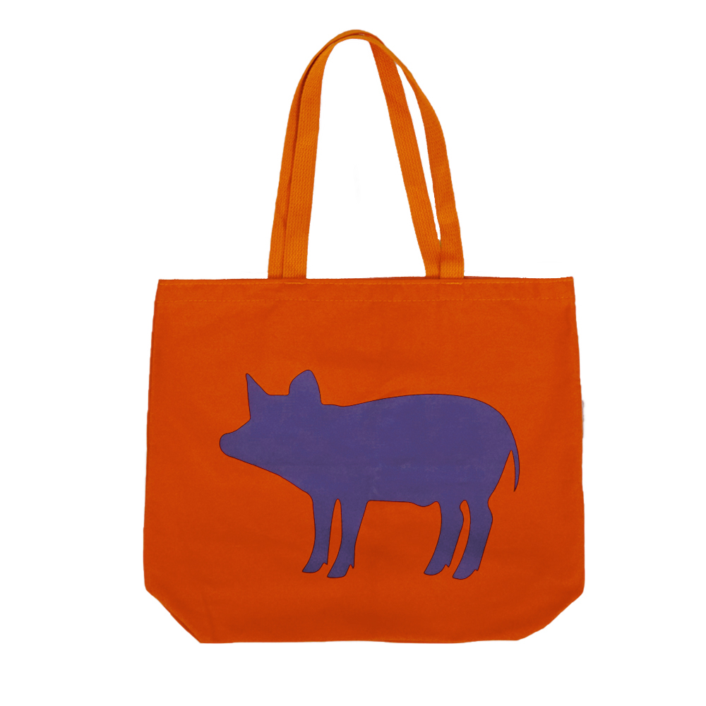 Farm Sanctuarys Pop Colored Pig Tote Bag