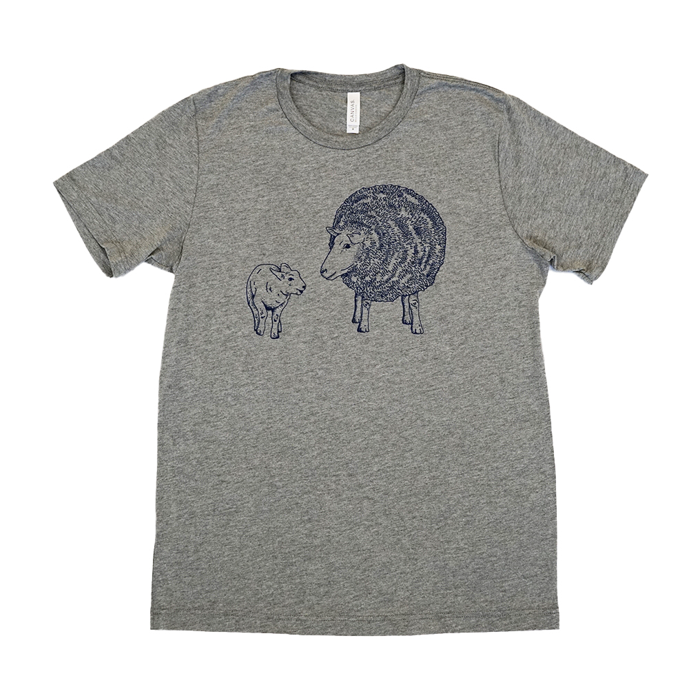 Farm Sanctuarys Sheep Line Drawing Unisex Tee